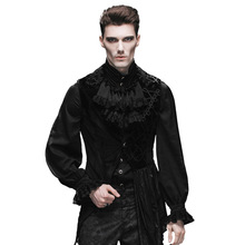 Steampunk Sleeveless Man Coats And Jackets Gothic Flower Mens Asymmetric Vest Waistcoat Winter Sleeveless Gilets For Homme
