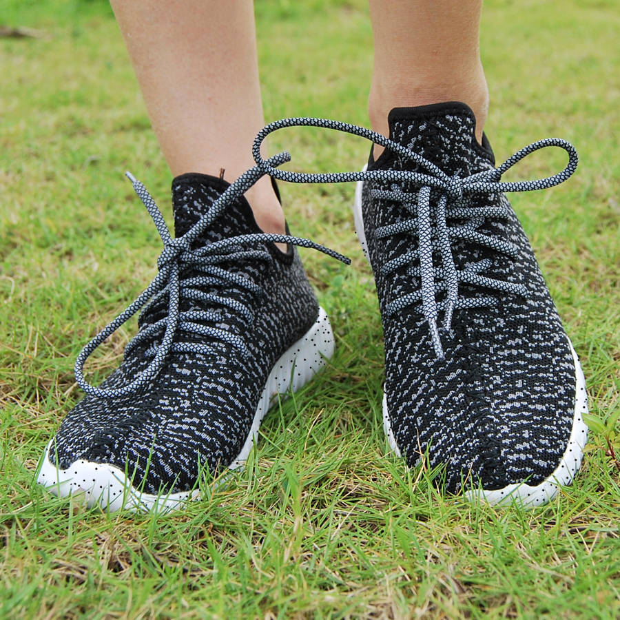16 new black color sport shoes woman and man,new idea computer woven breathable sneakers woman & man,comfortable shoes 7