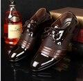 Hombres CALIENTES zapatos chaussure homme 2017 nueva Inglaterra de la manera de LA PU hombres zapatos de cuero zapatos hombre zapatos para hombre zapatos de los planos de la boda