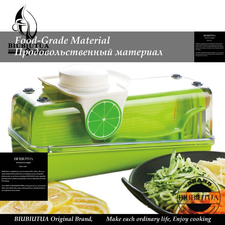 BIUBIUTUA Vegetable Slicer Shredders Fruit Chopper Peelers Ds