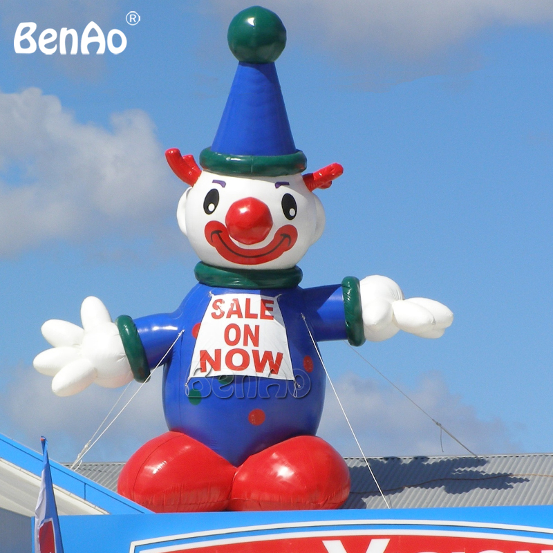 Inflatable Clown Advertising Promotion Roof Balloon 26ft