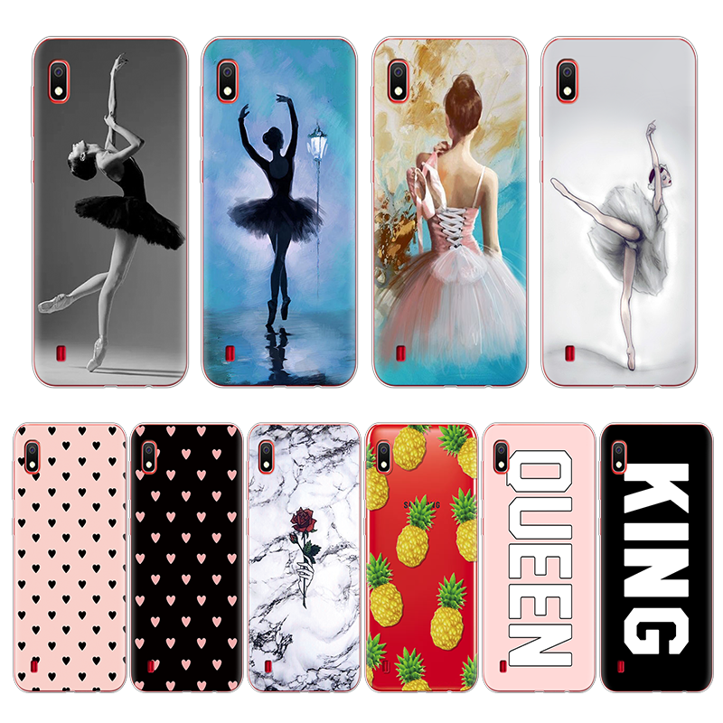 For Samsung Galaxy A50 Case 2019 Fashion Soft TPU silicone Back Cover For Samsung A10 A30 30 10 Love Heart Phone Shells Cases