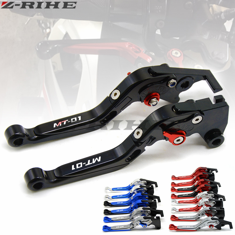 Motorcycle Accessories CNC Folding Extendable Brake Clutch Levers For YAMAHA MT01 MT 01 2004-2009 2008 2007 With LOGO MT-01 CNC 2016 hot sale golden color cnc aluminium motorcycle brake clutch lever protect guard for yamaha mt 01 2004 2009