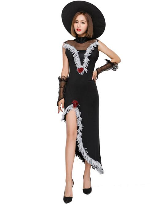 Ladies Witch Adult Costume Womens Halloween Fancy Parties Outfit