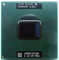 Intel cpu p9600  cpu duo 2 cpu móvel cpu p9600 dual core 2.7ghz 6m 1066mhz soquete pm45