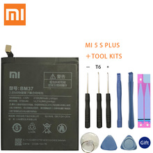 Original Xiaomi Mi 5S Plus battery BM37 3800mAh for Xiaomi Mi 5S Plus MI5S Plus High quality Replacment phone BM37 battery mi 5s plus 64gb grey