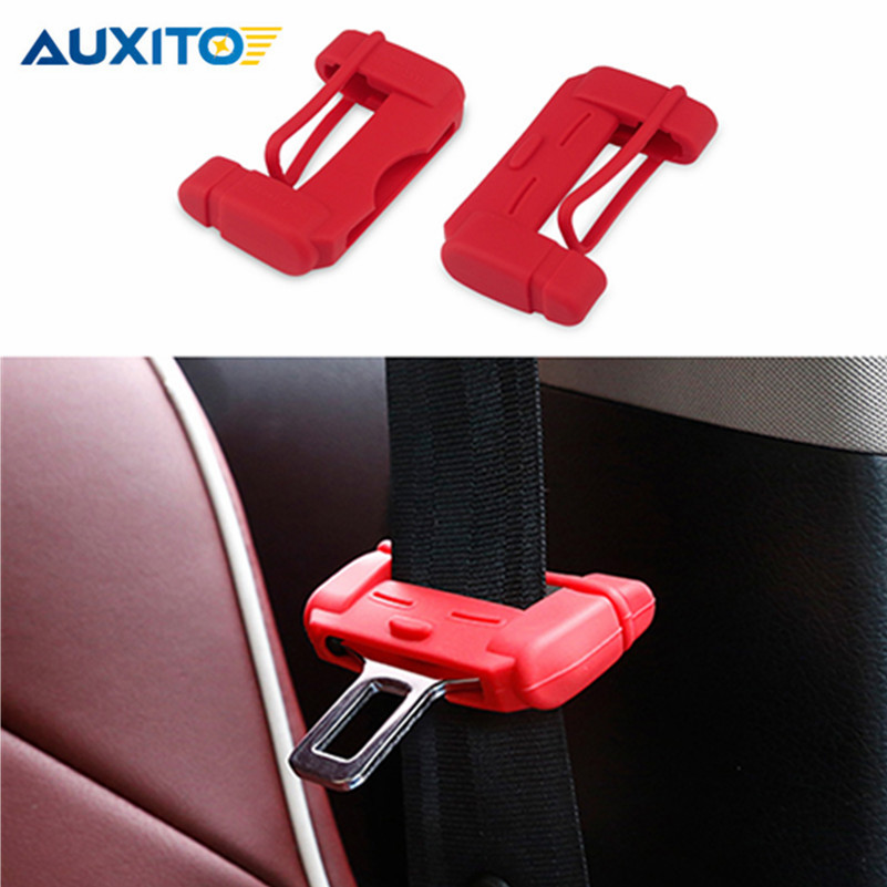 цена на Car Seat Belt Buckle Cover For VW Golf 4 5 Passat B5 B6 Bora Polo Skoda Octavia A5 Fabia SEAT Ibiza Leon Ford Focus 2 3 Mondeo