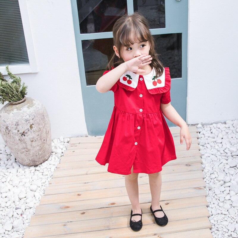 Roupas de Criança Sling Vestido Casual Impressos Vestidos