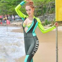 2017 New Thin Thin Big Code Integrated Safety SWIMSUIT SET