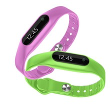 E06 Miband gaya IP57 tampilan waktu OLED layar sentuh layar sentuh Bluetooth 4,0 pintar pita gelang SmartWatches untuk