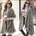 2016 Marca Projeto Cachecol de Caxemira cobertor Xadrez Moda Quente no Inverno Xale Para As Mulheres pashmina xale 140*140 cm
