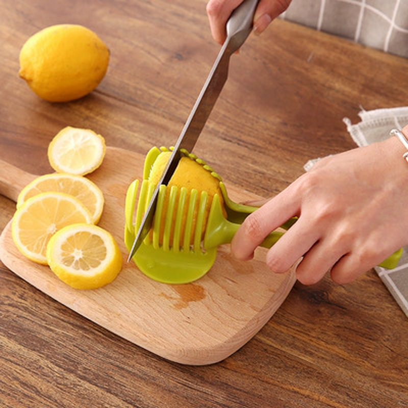 Plastic Tomato Slicer Potato Fruits Cutter Tool Onion Shreadders Lemon Cutting Holder Cooking Tools Kitchen Accessories (2)