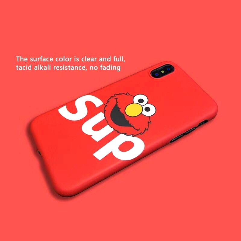 Street Suprem Cute Cartoon Sesame Street Bus Case For iPhone 6 6sPlus 7 7 plus 8 8Plus X Soft TPU Silicone Back Cover