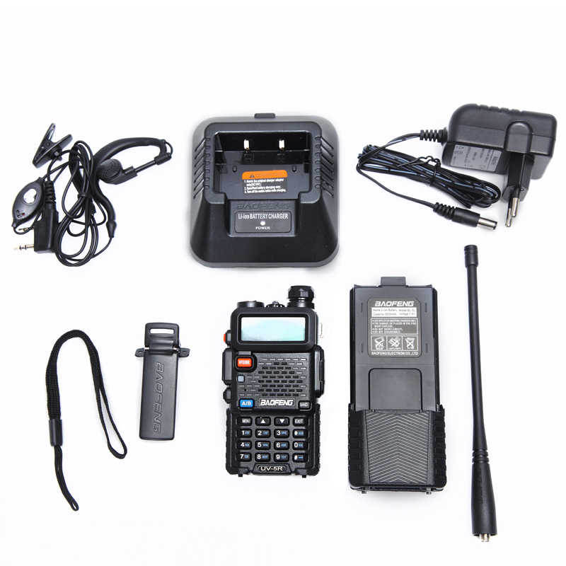 2 قطعة Baofeng UV-5R 3800 اسلكية تخاطب 5 واط المزدوج الفرقة UHF 400-520 ميجا هرتز VHF 136-174 ميجا هرتز اتجاهين راديو 2 قطعة NA-771 هوائي
