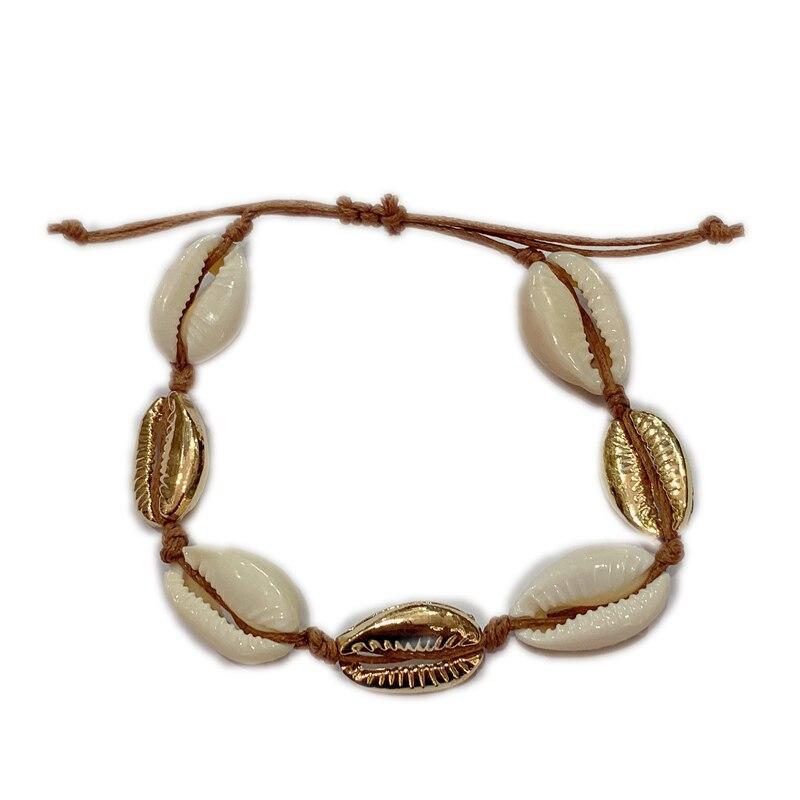 aliexpress NATURAL PUKA SHELL BRACELET GOLD SHELL cowry bracelets