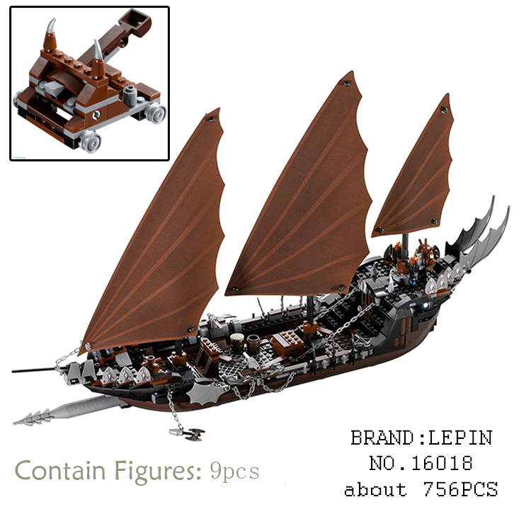 New Lepin 16018 Genuine The lord of rings Series The Ghost Pirate Ship Set Building Block Brick Fun Toys for children gift 79008  lis new lepin 16018 genuine the lord of rings series the ghost pirate ship set building block brick toys 79008