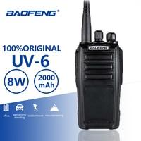Baofeng UV 6 New Arrival 8w 128 Channels Walkie Talkie High Power Long Standby UHF/VHF Dual Band Two Way Radio Woki Toki 50KM