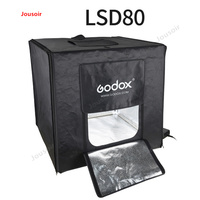 Godox LSD80 40W LED Photo Studio Softbox Light Tent SoftBox +AC Adapter +PVC Backgrounds for Phone DSLR Shooting Product CD50T03