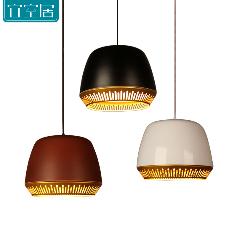 Pendant lights dining room pendant lamps modern Iron Paint White Black LED E27 Bar Kitchen Chandelier ceiling bedroom zx hot sale solid wood iron nut e27 led chandelier height adjustable for dining room bar bedroom