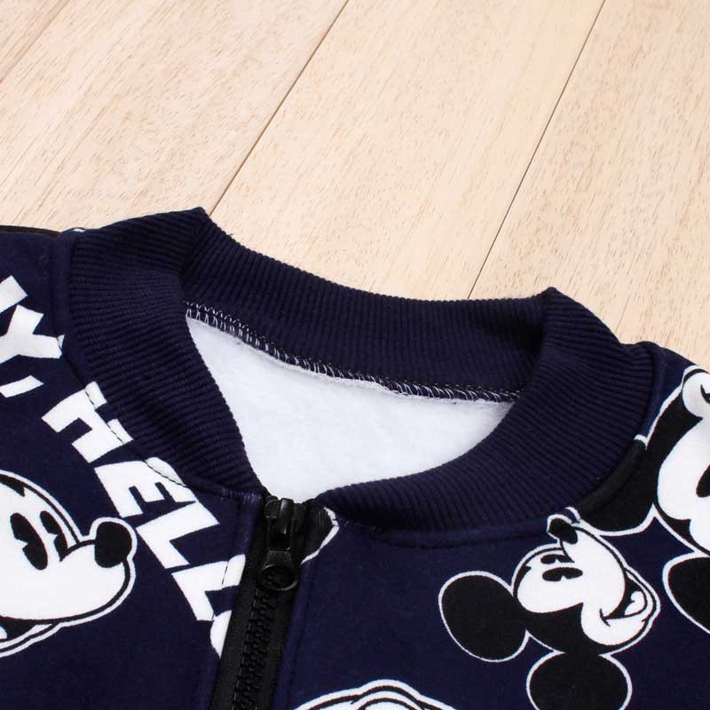 c94559e0f Más barato bebé niños niñas Minnie Mickey conjunto de ropa de otoño ...