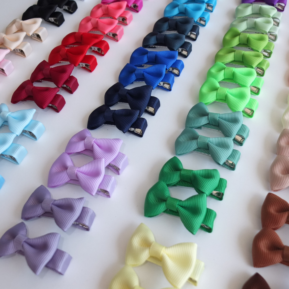 1 Pair Hair clips Hair bow Boutique Mini Bows Kids Girl Headwear Hairbow Barrettes Hairpins Hair accessories Hairgrips 40pcs lot 30 colors 4inch hair bows kids girls hair clips boutique bows hairpins for kids children kids girl hair accessories