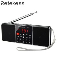 RETEKESS TR602 Bluetooth Radio Receiver Portable Radio FM AM With MP3 Player Wireless Speaker AUX Support TF Card Sleep Timer