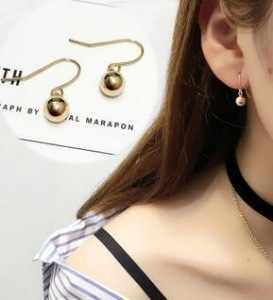 Korean metal gold ball earrings female simple earrings for women small jewelry accessories wholesale