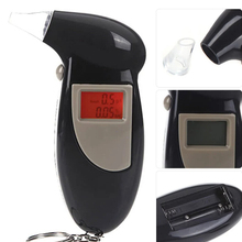 цена на LCD Display Digital Alcohol Tester Professional Police Alert Breath Alcohol Tester Device Breathalyzer Analyzer Detector Test