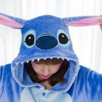Adult Flannel Kigurums Onesie Unisex Cosplay Pajamas One For Party Jumpsuit Unisex Pajamas Costume Animal Nightwear