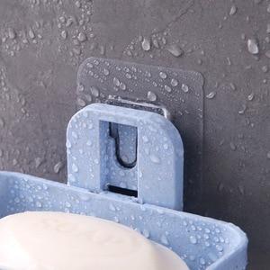 Image 4 - 1pcs צלחת סבון מגש שכבה כפולה בעל סבון ניקוז יניקה גביע סבון תיבת בית סבון כלים דרגש מים אמבטיה סלי