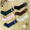 baby socks  Bow Socks Good Quality Sweet Kids Cotton School Socks High Knee Cute Princess For 2-9 Years