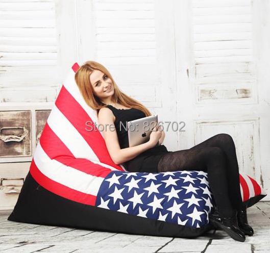 Shoping listras da zebra removível e lavável beanbag preguiçoso sofá preguiçoso