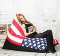 free shoping  removable and washable lazy beanbag fashion zebra stripes lazybones leisure sofa