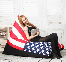 free shoping removable and washable lazy beanbag fashion zebra stripes lazybones leisure sofa