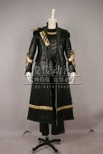 The Avengers Loki Cosplay costume coat+pant+top