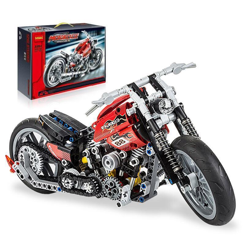 Decool 3354 Motocicleta Exploiture Blocos de Construção Define Tijolos Brinquedos Educativos Melhor Presente Para As Crianças Compatíveis Com Legoe