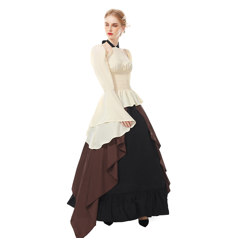 Women Medieval Renaissance Dress Ball Gown Scottish Celtic Irish