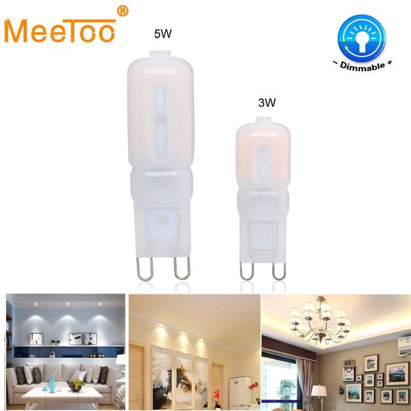 G9 LED light 3W 5W Dimmable SMD2835 AC220V LED bulb G9 LED lamp for Chandelier spotlight replace halogen lamp led bulbs tubes