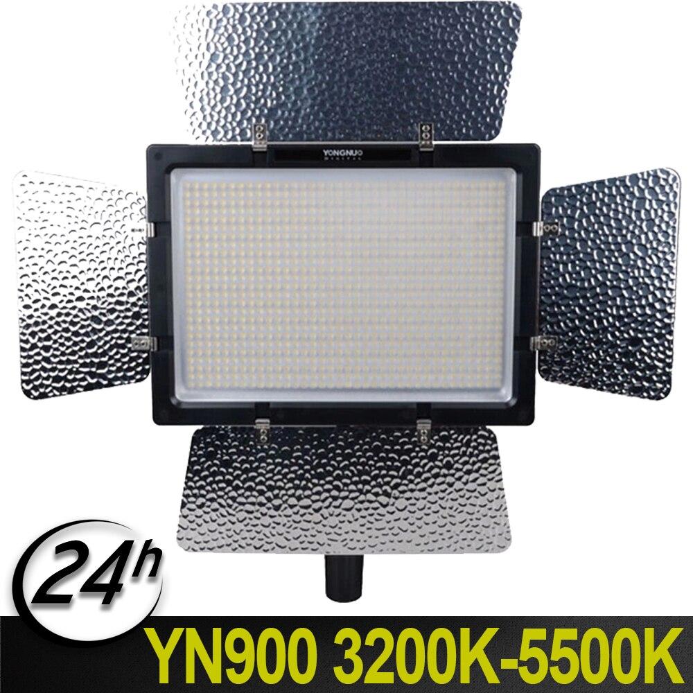 YongNuo YN-900 CRI 95 + Sans Fil 3200 k-5500 k LED Vidéo Lampe De Lumière Pour Nikon Pentax Olympus Canon 900 Lampe Haricots 7200LM 54 w
