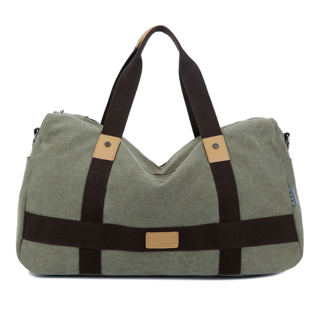 Vintage canvas men travel bags women weekend carry on luggage   bags  leisure duffle bag large a9ecaabf26ac6