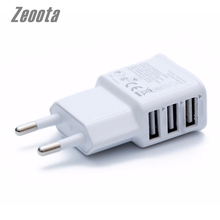 Zeoota 5V 2A EU Plug 3 Ports USB Wall Travel Charger Adapter Phone For iPhone 4 5 6 For Samsung Galaxy S3 S4 Note 3 Note 4 N9000