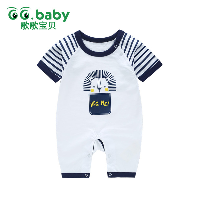 cf7aef0373d4 Striped Lion Baby Rompers Baby Boy Girl Romper Overalls Baby ...