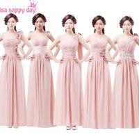 Bridemaid robes chérie summer long maxi a-ligne sweetheart parole longueur mousseline de soie blush robe pour femmes 2018 élégant xs B2435