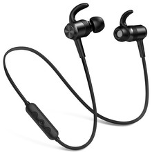 hot deal buy wireless headphones 10 hrs playtime v4.1 csr bluetooth sweatproof sport earphones hifi stereo bluetooth headphones with mic