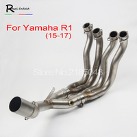 R1 Motorcycle Exhaust Muffler Modified Scooter Front Pipe Slip On Muffler Exhaust For YAMAHA R1 FZN 2014 2017 full system escape
