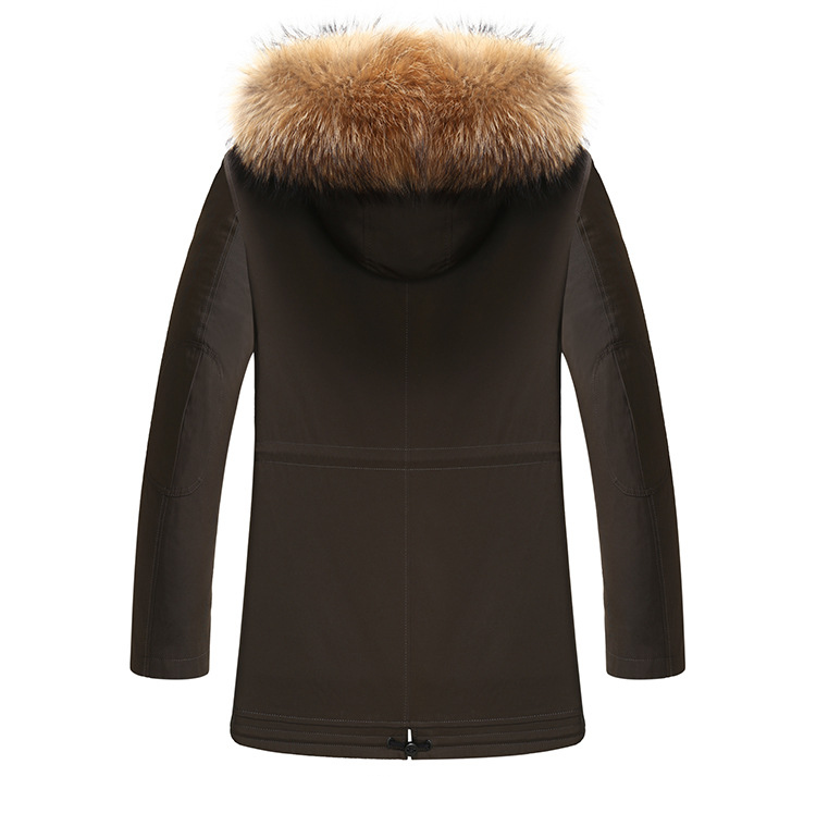 3 Fur Winter Jackets Mens Super Warm Parkas Camel Hairs Filling with Raccoon Hood big fur winter coat thicken parka