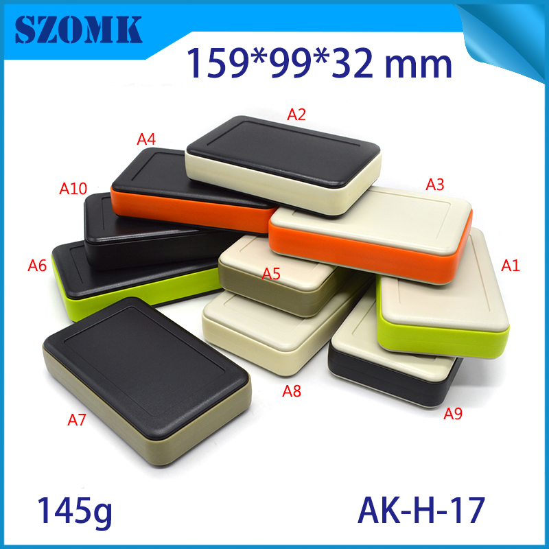 10 pcs 159 99 32mm szomk handheld project box gps tracker electrical enclosure junction box plastic