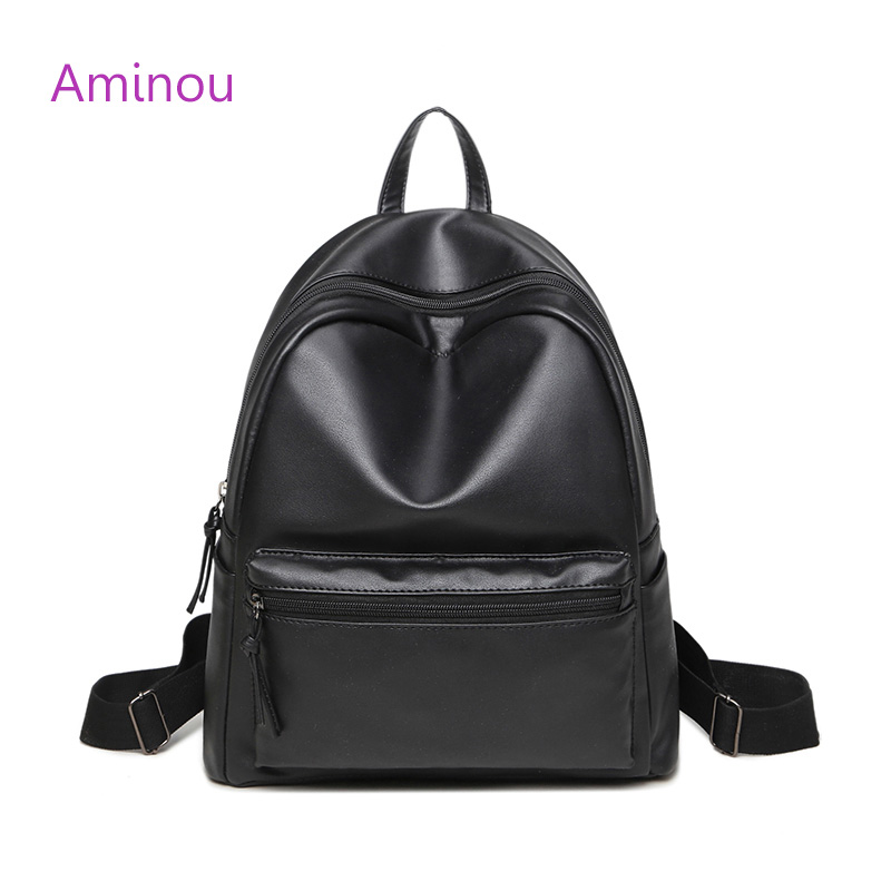 2017 Leather Backpack Women Laptop For Teenage Girls Casual Soft Pu Kids Vintage Korean School Backpacks