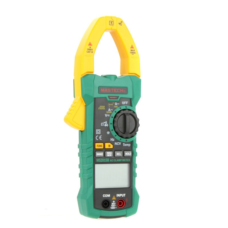 multifunction digital clamp Auto Range 6000 Multimeter AC/DC Current Voltage DMM Frequency Tester True temperature measurement mastech digital multimeter ms8239c handheld auto range ac dc voltage ac current capacitance frequency temperature tester
