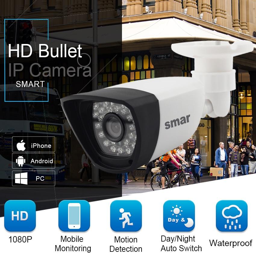 Smar H 265 POE 2MP IP Camera Outdoor Waterproof CCTV 1080P 20fps HD 720P H 264 Smar H.265 POE 2MP IP Camera Outdoor Waterproof CCTV 1080P 20fps HD 720P H.264 Network Bullet Camera 2.8mm Wide Lens P2P Onvif
